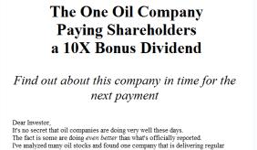 Oil Dividend
